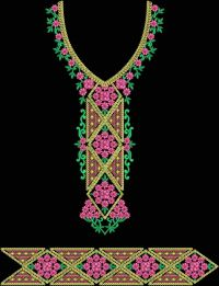 flower neck with lace design