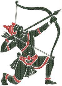 Archer emroidary design