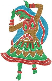 Dancer embroidary design