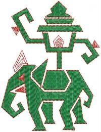 elephant embroidary design