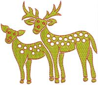 Deer embroidary design
