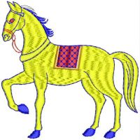 horse embroidary design