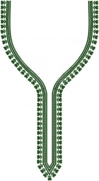 Small Stitch splitted neck embroidary design