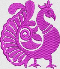Peacock embroidary design