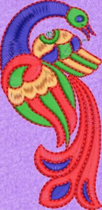 peacock butta embroidary design