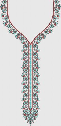 Barick butti neck embroidary design