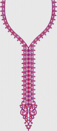 Slim Neck embroidary design