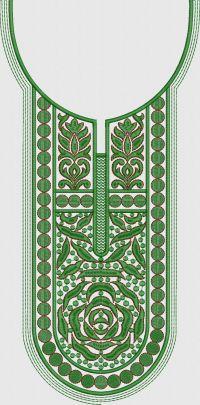 Small Stitch neck embroidary design