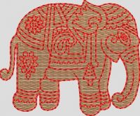 Elephant embroidary design