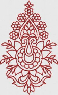 Pensil work butta embroidary design