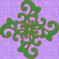 Cushion embroidary design