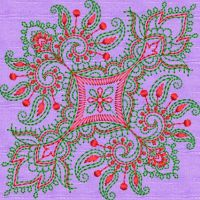 kashmiri butta embroidary design