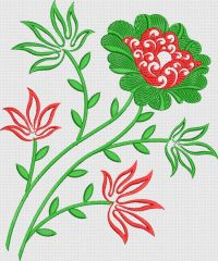 Flower butta embroidary design