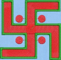 Swastik embroidary design