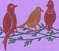Birds embroidary design