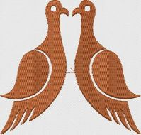 Pigeons embroidary design