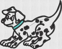 Dog embroidary design
