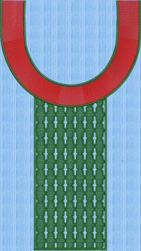 u shape neck embroidary design