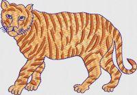 Tiger embroidary design