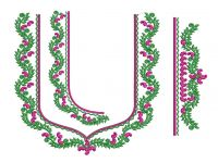 Splitted South Indian Embroidery  Blouse Design