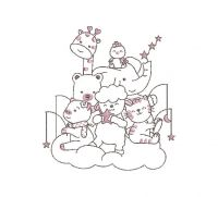 baby Applique Embroidery design