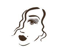Unique lady face  Fabric decor tatoos Women's Fashion Embroidery Design