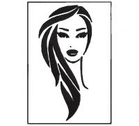 adult face Women's Fashion Embroidery Design
