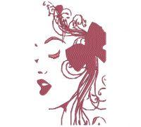 Tumblr Girl Women's Fashion Embroidery Design