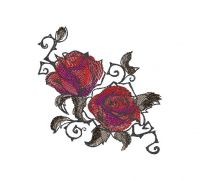 Unique Creative flowers Embroidery Design