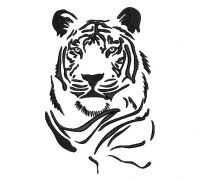 tiger Creative Figure Embroidery Design