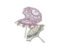 umbrella Creative Figure Embroidery Design