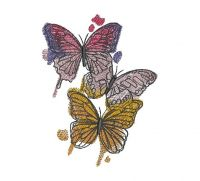 flying butterfly  Creative Figure Embroidery Design