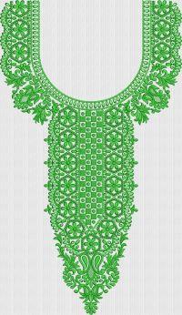 Neck embroidary design