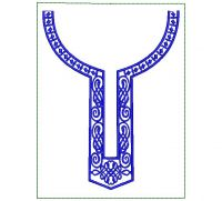 African's Men Neck Embroidery Design