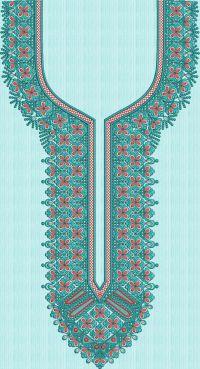 Turban angle neck embroidary design