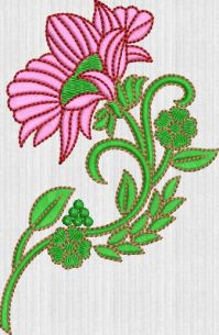 Creative flower embroidary design