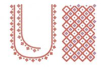 Cross Stitch Embroidery Splitted Blouse Design