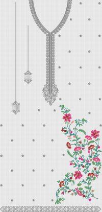 Creative Flower Panel Embroidary Design