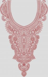Chain neck embroidary design