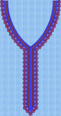 space butti neck embroidary design