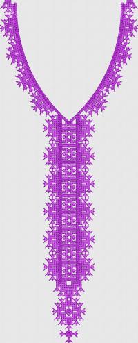 Satin neck embroidary design