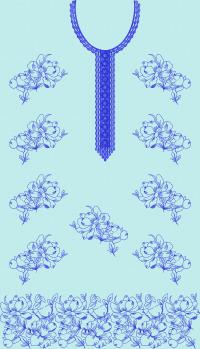 Pensil work panel embroidary design