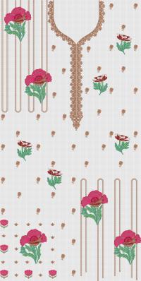Creative flower embroidary design