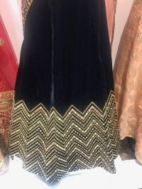 Velvet party wear lehenga
