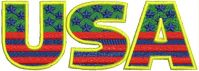 USA Logo  Embroidery design