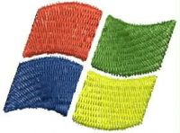 Tema Windows Logo  Embroidery design
