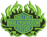 MOTOR HARLEY DAVIDSON CYCLES Logo  Embroidery design