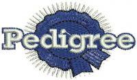 Pedigree Logo  Embroidery design