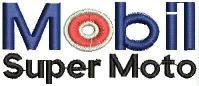 Mobil Super Moto Logo  Embroidery design