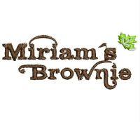 Miriam's Brownie Logo  Embroidery design